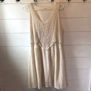 Maurice's Cream Lace Dress